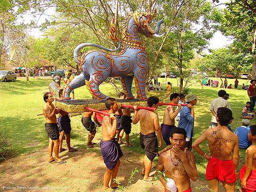 ปราสาทหินพนมรุ้ง - phanom rung festival - thailand, carnival float, elephant sculpture, elephant statue, phanom rung festival, ประเทศไทย, ปราสาทหินพนมรุ้ง