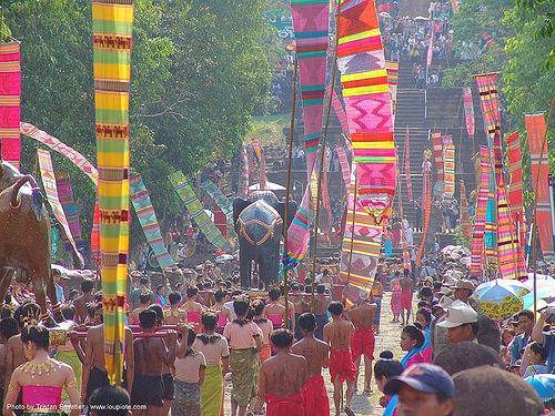 ปราสาทหินพนมรุ้ง - phanom rung festival - thailand, banners, black elephant, carnival float, elephant sculpture, elephant statue, phanom rung festival, procession, ประเทศไทย, ปราสาทหินพนมรุ้ง