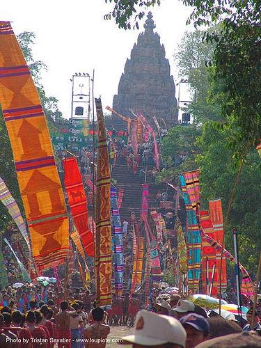 ปราสาทหินพนมรุ้ง - phanom rung festival - thailand, banners, phanom rung festival, procession, ประเทศไทย, ปราสาทหินพนมรุ้ง