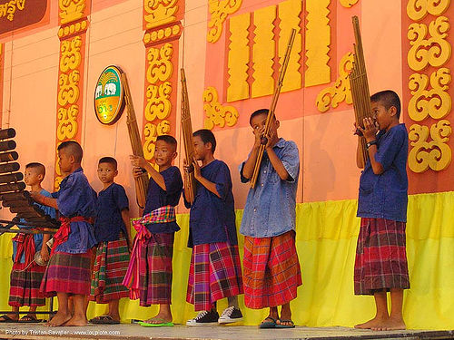 ปราสาทหินพนมรุ้ง - phanom rung festival - thailand, children, instruments, kids, music, orchestra, playing, stage, thai, thailand, traditional, ปราสาทหินพนมรุ้ง