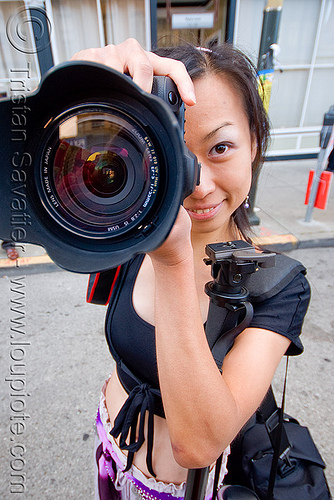 photographer - christine fu - camera lens (san francisco), asian woman, canon, chinese, festival, how weird festival, paparazzi, people