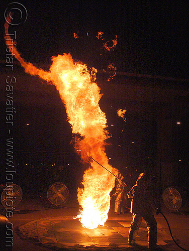 pillar of fire - column, burning, fire art, fire arts festival, firenado, flames, nate smith, pillar of fire, the crucible