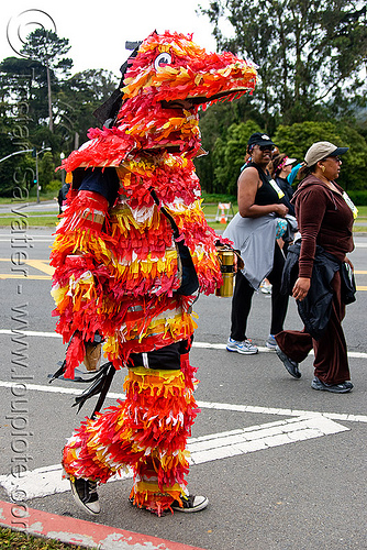 piñata costume, bay to breakers, costume, festival, footrace, orange, pinata, pinyata, piñata, red, street party