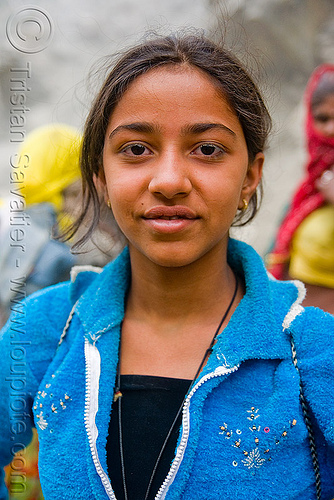 pinky sharma - young pilgrim girl - amarnath yatra (pilgrimage) - kashmir, amarnath yatra, hiking, hindu pilgrimage, india, kashmir, mountain trail, mountains, pilgrim, trekking