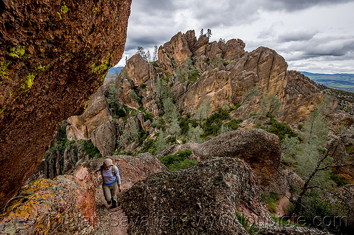 pinnacles national park (california) - high peaks trail, hiking, pinnacles national park, rock formations, sharon, trail, woman