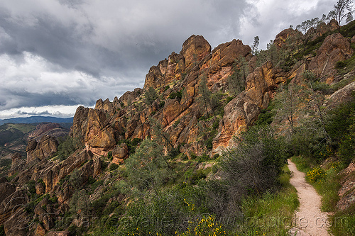 pinnacles national park (california) - juniper canyon trail, hiking, pinnacles national park, rock formations, trail