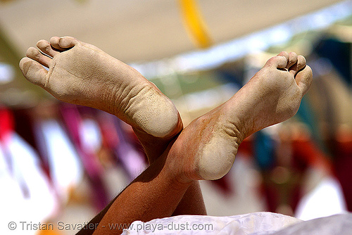 playa feet - burning man 2007, burning man, playa feet