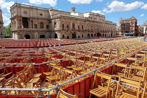 plaza de san francisco - sevilla, andalucía, chairs, easter, plaza de san francisco, religion, semana santa, sevilla