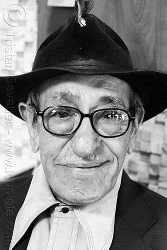 portrait of old man with hat, eyeglasses, eyewear, hat, old man, pedro lopez-brito, pedro lópez-brito, prescription glasses, spectacles