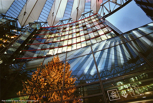 potsdamer platz (berlin), architecture, berlin, building, potsdamer platz, reflection