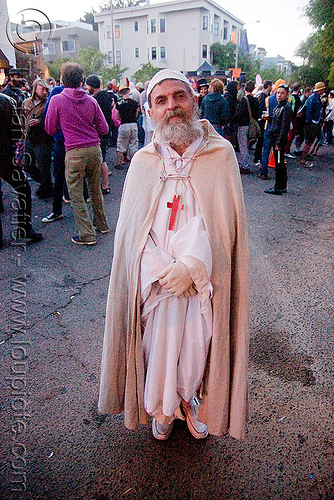 priest - easter sunday in san francisco, carnival priest, cross, drag, easter, man, nuns, priest costume, religion