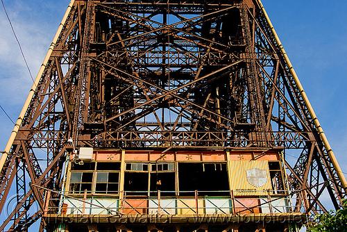 puente transbordador (la boca, buenos aires), buenos aires, la boca, lift bridge, metal, puente transbordador, riachuelo, río la matanza, río matanza, steel, truss