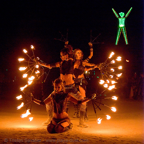 pyronauts of giza - fire conclave - burning man 2007, fire conclave, flames, night of the burn, pyronauts of giza