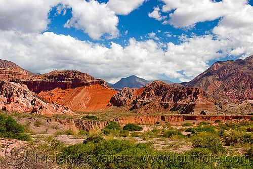 quebrada de las conchas - cafayate (argentina), calchaquí valley, mountains, noroeste argentino, quebrada de cafayate, quebrada de las conchas, valles calchaquíes