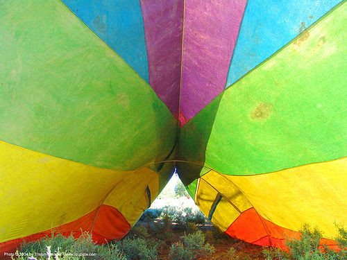 rainbow-tarp - rainbow gathering - hippie, rainbow family