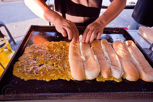 ramadan sandwiches, bread, food, food market, grill, miri, people, ramadan market, street food, street market