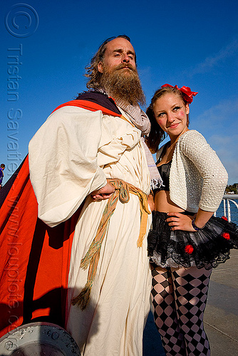 randal and catie - superhero street fair (san francisco), catie, islais creek promenade, man, randal alan smith, randal smith, superhero street fair, woman