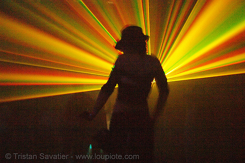 rave lights - laser shadows in warehouse underground rave party, backlight, laser lightshow, laser show, lasers, nightclub, nightlife, rave lights, rave party, ravers, shadows, silhouettes, underground party, warehouse party