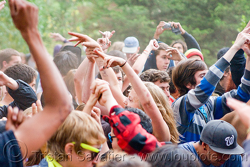 ravers dancing - golden gate park (san francisco), crowd, dancing, hands, party, raver