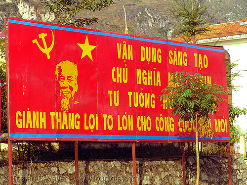 red communist sign - vietnam, communist sign, propaganda, red, vietnam, yen minh, yên minh