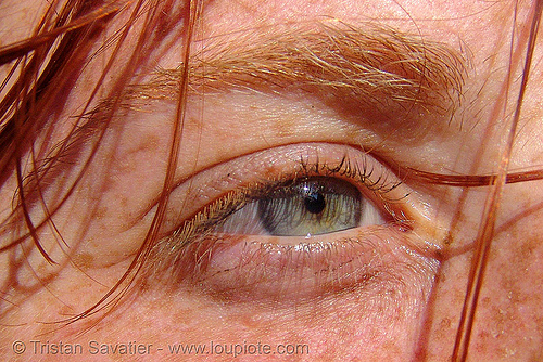 redhead deva's eye, close up, eye color, eyelashes, freckles, iris, red hair, redhead, woman