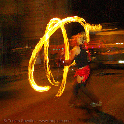 rising - fire performer spinning fire (san francisco), fire dancer, fire dancing, fire performer, fire poi, fire spinning, march of light, night, pyronauts, rising, spinning fire