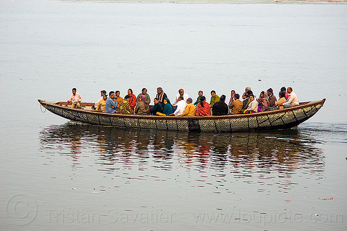 river boat sailing on ganges river (india), bamboo, ganga, ganges river, india, river boat, sailing, varanasi