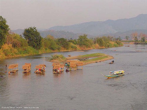 river fair - tha ton - near fang (thailand), festival, river boat, river fair, songkran, tha ton, water, ประเทศไทย, สงกรานต์