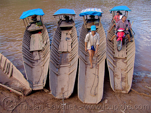 river ferry crossing - vietnam, ferry boats, motorbike, motorcycle, river crossing, river ferries, small boats