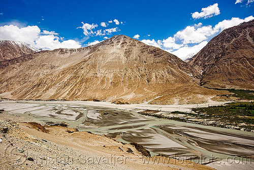 river - nubra valley - ladakh (india), ladakh, mountains, nubra valley, river bed
