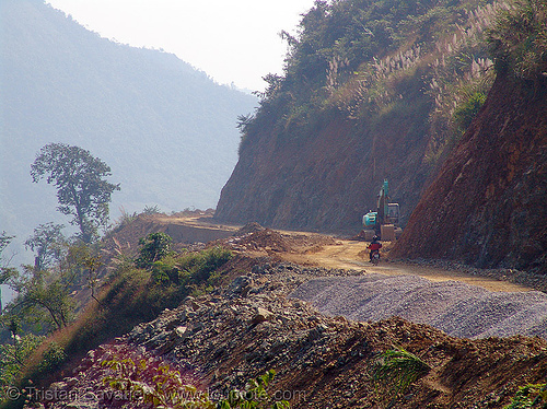 road construction - vietnam, asphalt, bitumen, groundwork, macadam, pavement, paving, petroleum, road construction, roadworks