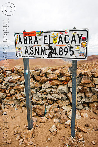 road sign - abra el acay - acay pass (argentina), abra el acay, acay pass, mountain pass, noroeste argentino, road sign, traffic sign