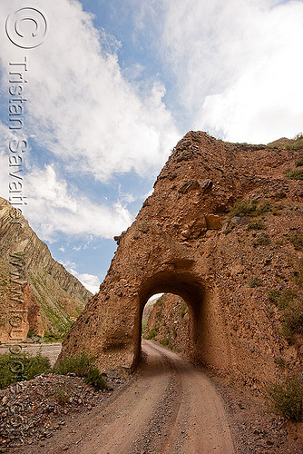 road - small tunnel, dirt road, iruya, mountains, noroeste argentino, quebrada de humahuaca, tunnel, unpaved