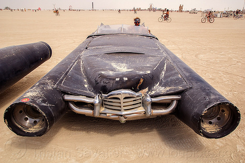 rocket car - burning man 2016, art car, burning man, rocket car