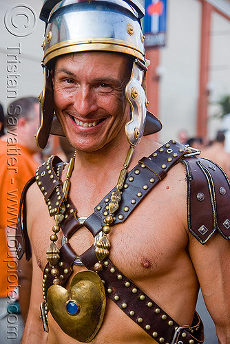 roman soldier costume, centurion, costume, folsom street fair, man, roman soldier