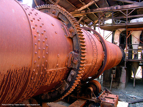 rotary kiln, abandoned, cinnabar smelter, decay, girth gear, industrial, mercury pollution, new idria, rotary furnace, rotary kiln, rusted, rusty, trespassing, urban exploration