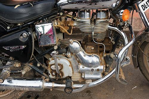 motorbike engine, engine, luang prabang, motorbike touring, motorcycle touring, road, royal enfield bullet
