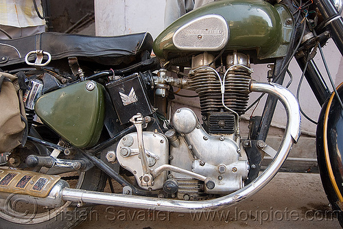 "royal enfield motorcycle - ""bullet"" 350cc, 350cc, engine, india, motorcycle touring, road, royal enfield bullet, udaipur"