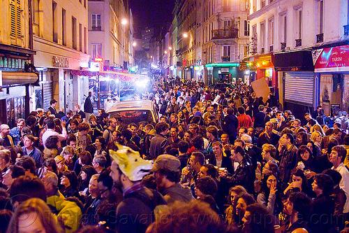 rue jean-pierre timbaud - paris - Fête de la musique festival, crowd, festival, fete de la musique, fête de la musique, night, paris, street