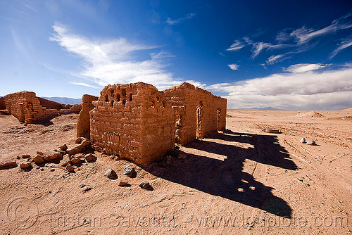 ruin of abandoned village, abandoned, adobe, altiplano, desert, house, noroeste argentino, pampa, ruins, shadows, village