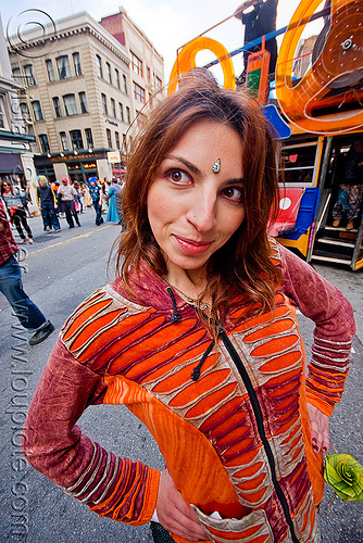 russian girl - how weird street faire (san francisco), bindis, christine, festival, how weird festival, people, woman, кристин