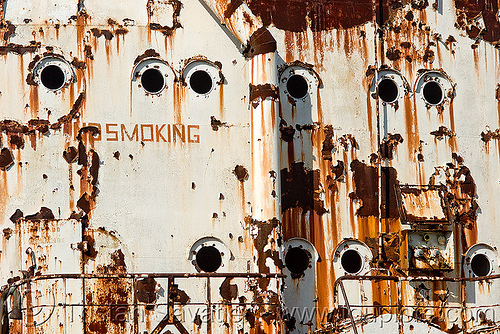 rusting ship in la boca (buenos aires), abandoned, boat cemetery, buenos aires, cape blanco, cargo ship, la boca, no smoking, oil tanker ship, petroleum tanker, riachuelo, rusted, rusting, rusty, río la matanza, río matanza, ship cemetery, ship graveyard, wreck