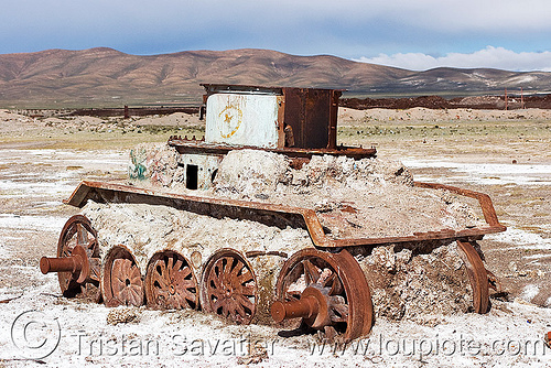 rusty armored tank - uyuni (bolivia), army, bolivia, military, railway, rusting, rusty, scrapyard, train cemetery, train graveyard, train junkyard, uyuni