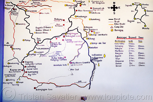sagada trails map (philippines), philippines, sagada, trail map, trails