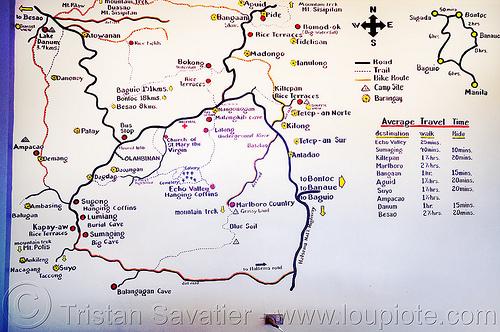 sagada trails map (philippines), philippines, sagada, trail map, trails