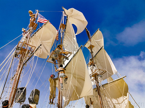 sails of art ship monaco - burning man 2019, art car, art ship monaco, burning man, masts, mutant vehicles, sail ship, sails, tall ship
