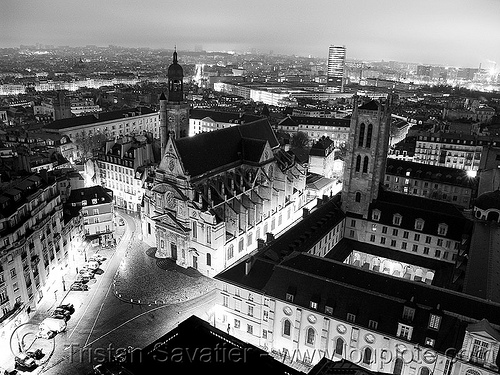 saint etienne du mont, aerial photo, church, cityscape, eglise, lycee henri-iv, lycée henri-iv, night, paris, place, rue clovis, saint etienne du mont, saint Étienne du mont, st etienne du mont, st Étienne du mont, streets, tour clovis