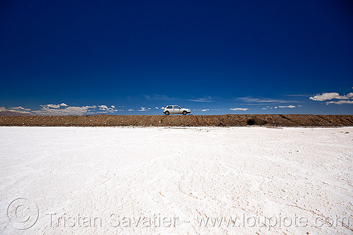 salt lake - salinas grandes - salar (argentina), blue, blue sky, car, desert, halite, horizon, jujuy, noroeste argentino, people, road, rock salt, salt bed, salt flats, white