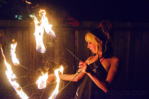 samantha with fire fans, fire dancer, fire dancing, fire fans, fire performer, fire spinning, night, samantha, woman
