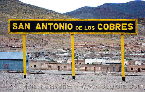 san antonio de los cobres (argentina), noroeste argentino, railroad, railway, sign, train station, tren a las nubes